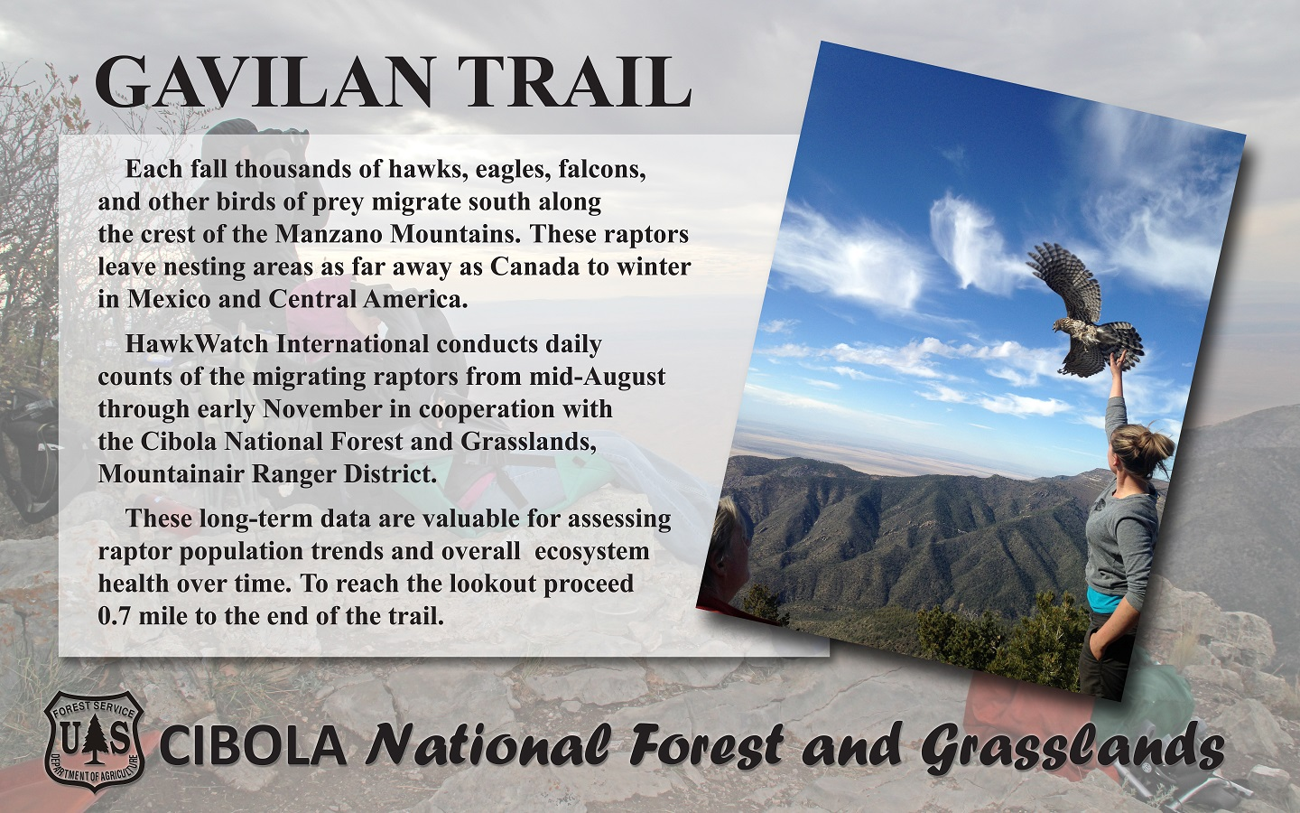 Gavilan Trailhead sign 2014