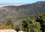 View from HWI's Manzano Mountains monitoring site. (Ginny Seamster)